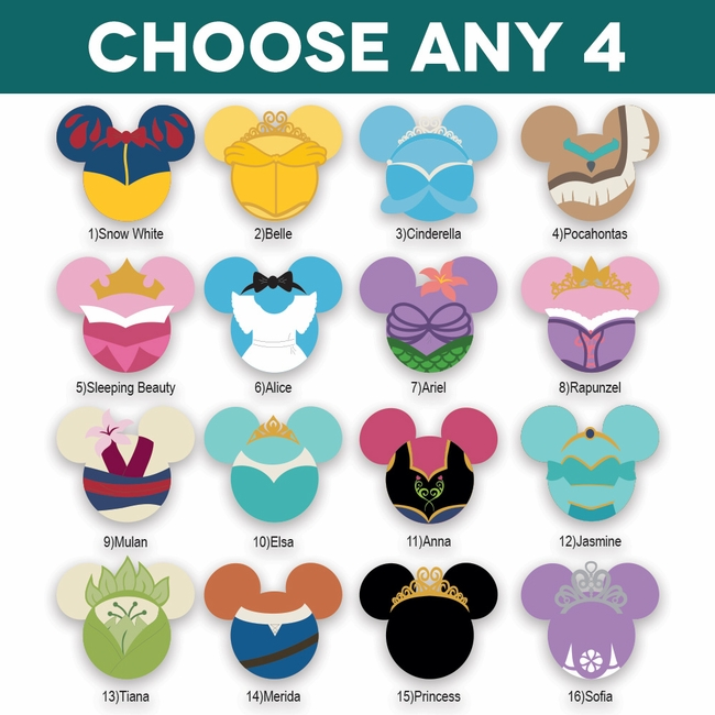 Selection Of Disney Themed Sleeping Beauty Die Cuts