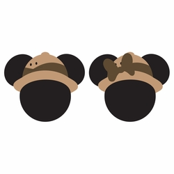 Mickey Heads: Safari Mouse Head Laser Die Cuts