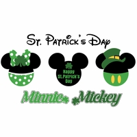 Mickey Heads: St. Patrick's Mouse Head Die Cuts
