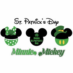 2SYT Mickey Heads: St. Patrick's Mouse Head Die Cuts