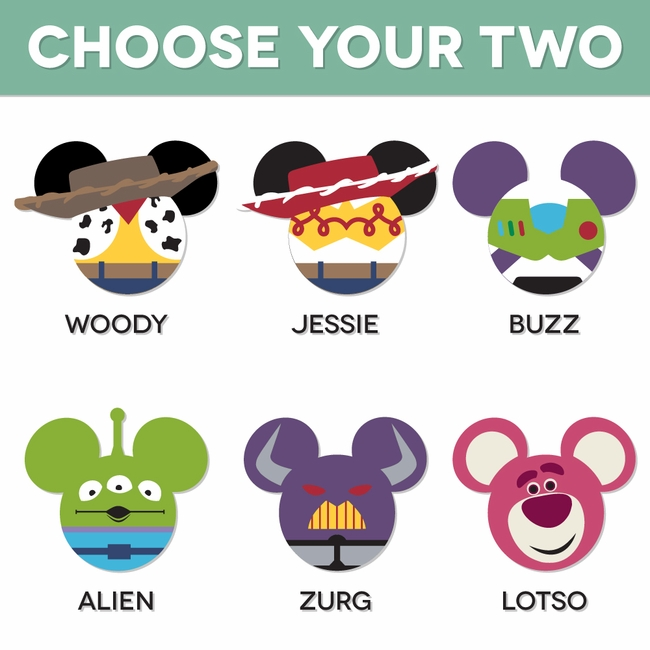 Mickey Heads Toy Story Mouse Head Laser Die Cuts