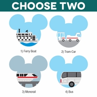 Mickey Heads: Transportation Die Cuts
