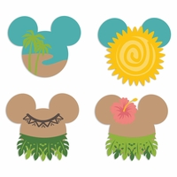 Mickey Heads: Tropical Mouse Laser Die Cuts