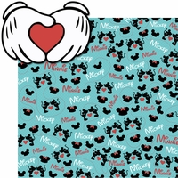 Mickey Loves Minnie 2 Piece Laser Die Cut Kit