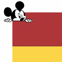 Mickey Peeking 2 Piece Laser XL Die Cut Kit