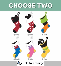 Mickey Stockings: Fab Five Character Stocking Laser Die Cuts