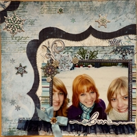 Midnight Frost by Bo Bunny layout # 2-<font color=red><b>NOT FOR SALE</b></font>