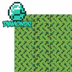 Minecraft: Diamonds 2 Piece Laser Die Cut Kit