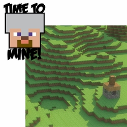 2SYT Minecraft: Time to Mine 2 Piece Laser Die Cut Kit