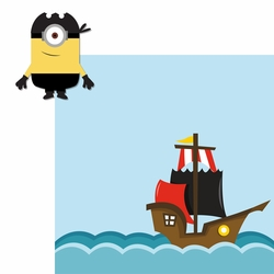 Minions: Bandana Pirate 2 Piece Laser Die Cut Kit