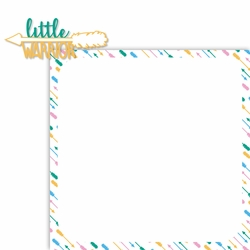 Miracle: Little Warrior 2 Piece Laser Die Cut Kit