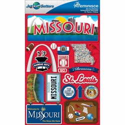 Missouri Jet Setters Dimensional Stickers