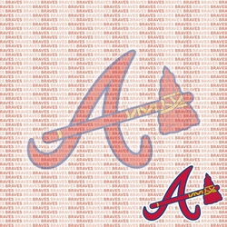 MLB Fanatic: Atlanta Braves 12 x 12 Paper