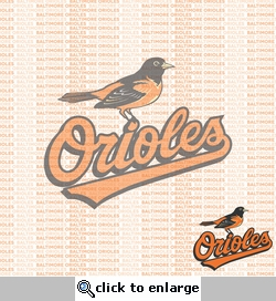 MLB Fanatic: Baltimore Orioles 12 x 12 Paper