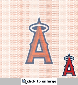 MLB Fanatic: Los Angeles Angels 12 x 12 Paper