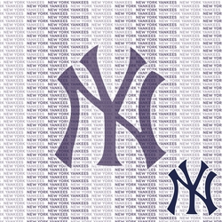 MLB Fanatic: New York Yankees 12 x 12 Paper