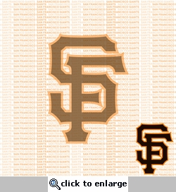 MLB Fanatic: San Francisco Giants 12 x 12 Paper