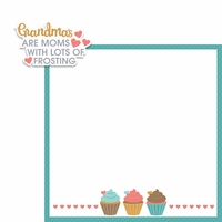 Mom with Frosting 2 Piece Laser Die Cut Kit