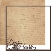 Moments In Time: Dear To My Heart 12 x 12 Overlay Quick Page Laser Die Cut