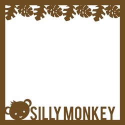 2SYT Monkey: Silly Monkey 12 x 12 Overlay Laser Die Cut