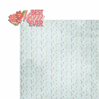 Mother's Day: Best Mom Ever 2 Piece Laser Die Cut Kit