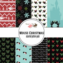 Mouse Christmas Assorted 12 x 12 Paper Pack