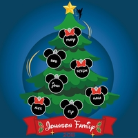 Mouse Christmas: Family Tree Custom 12 x 12 Paper