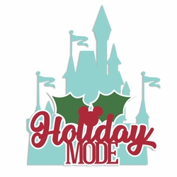 1SYT Mouse Christmas: Holiday Mode Laser Die Cut