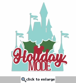 Mouse Christmas: Holiday Mode Laser Die Cut