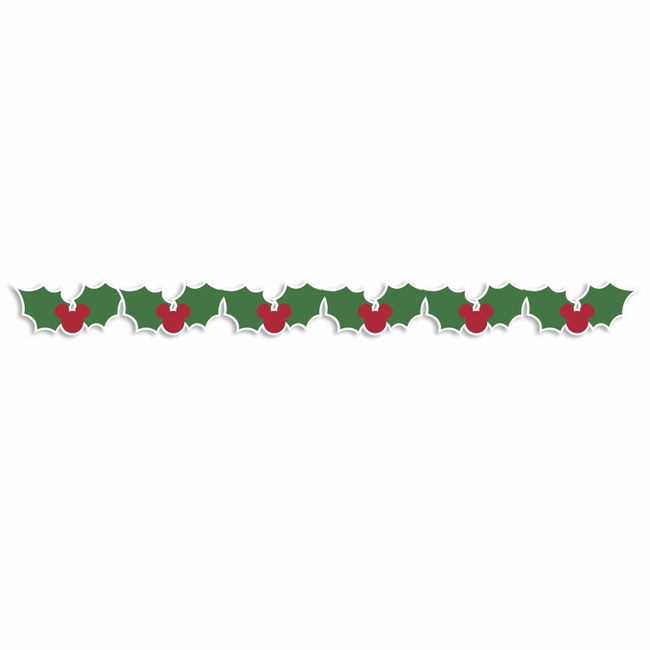 mouse christmas mouse holly border laser die cut