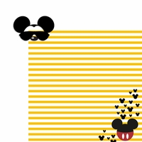 Mouse glasses: Mickey 2 Piece Laser Die Cut Kit