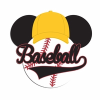 Mouse Sports: Mouse Baseball Laser Die Cut