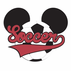2SYT Mouse Sports: Mouse Soccer Laser Die Cut