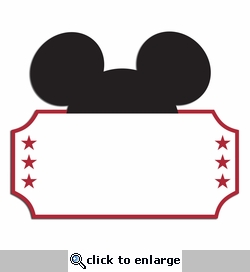 Mouse Ticket Laser Die Cut