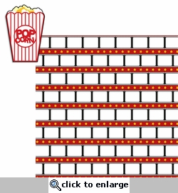 Movie Time: Popcorn 2 Piece Laser Die Cut Kit