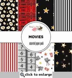Movies Assorted 12 x 12 Paper Pack