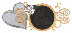 Mr. And Mrs. Laser Die Cut