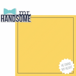 Mr Handsome: He Owns My Heart 2 Piece Laser Die Cut Kit