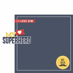 Mr Handsome: My Superhero 2 Piece Laser Die Cut Kit