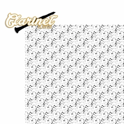 Music: Clarinet Player 2 Piece Laser Die Cut Kit
