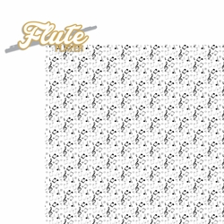 Music: Flute Player 2 Piece Laser Die Cut Kit