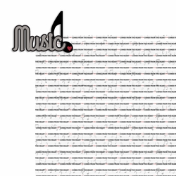 Music: Music from the heart 2 Piece Laser Die Cut Kit