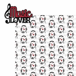 Music: Music Lover 2 Piece Laser Die Cut Kit