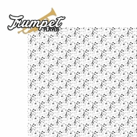 Music: Trumpet Player 2 Piece Laser Die Cut Kit