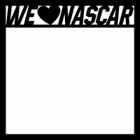 Nascar: We Heart Nascar 2 Piece Laser Die Cut Kit