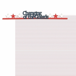 Nation's Capital: Changing Of The Guards 2 Piece Laser Die Cut Kit