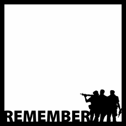 Nation's Capital: Remember 12 x 12 Overlay Laser Die Cut