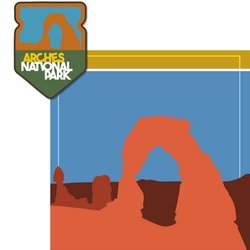2SYT National Parks: Arches 2 Piece Laser Die Cut Kit