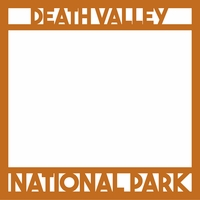 National Parks: Death Valley 12 x 12 Overlay Laser Die Cut