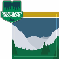 National Parks: Great Smoky Mountains 2 Piece Laser Die Cut Kit